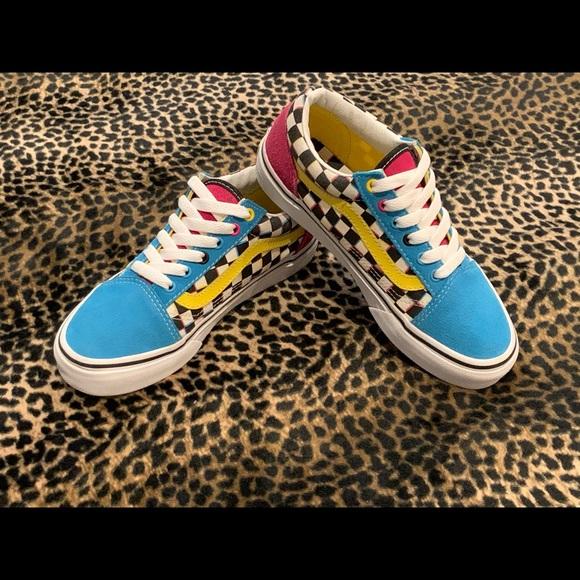 Vans Shoes | Blue Pink Yellow Old Skool
